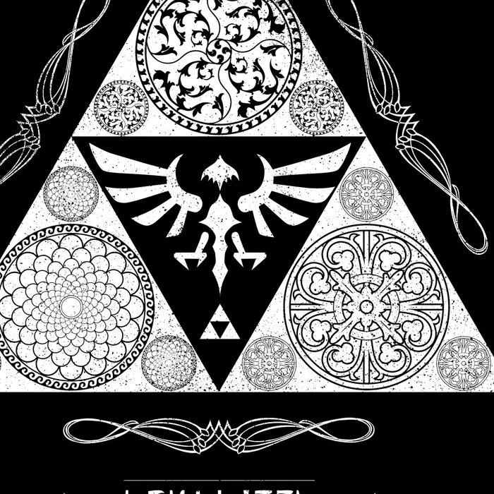 Legend of Zelda Kingdom of Hyrule Crest Letterpress Vector Art Leggings