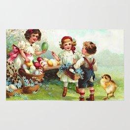 Vintage Easter Party Rug