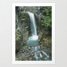 Waterfall on Mt. Rainier Art Print