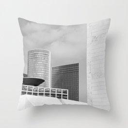 Black and White architecture Throw Pillow
