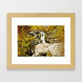 Boulder Fall Framed Art Print