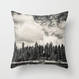 Far Away Clouds Passing By Throw Pillow