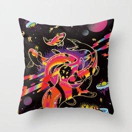 Interdimensional Nishikigoi Throw Pillow