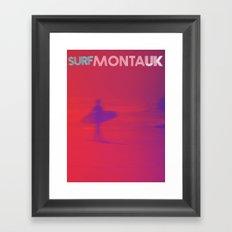 Surf Montauk Poster / Red Framed Art Print
