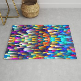 Colorful digital art splashing G390 Rug