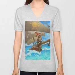 Rum Runners of the Ocean Blue Unisex V-Neck