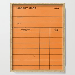 Library Card BSS 28 Orange Serving Tray