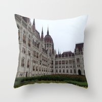 budapest Throw Pillows featuring Budapest  by Katarina
