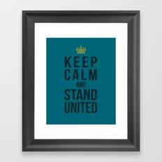 Keep Calm And Stand United Framed Art Print