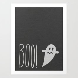 Boo, the ghost! Art Print