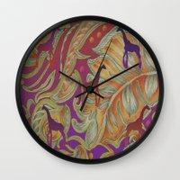 morocco Wall Clocks featuring  boho morocco by Ariadne