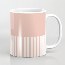 Sol Abstract Geometric Print in Pink Coffee Mug
