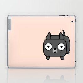 Pitbull Loaf - Blue Pitbull with Cropped Ears Laptop & iPad Skin
