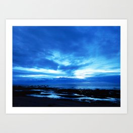 Arm from Above Plays with the Sunset Art Print