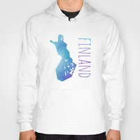 finland Hoodies featuring Finland by Stephanie Wittenburg