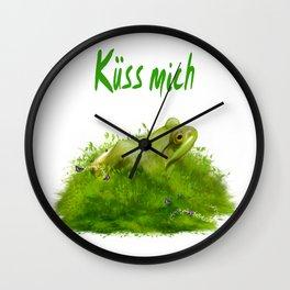 Küss mich Wall Clock