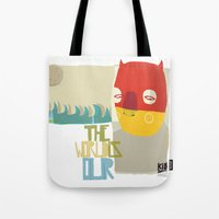 heroes Tote Bags featuring heroes by smaomao