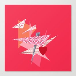 Valentine Abstract Canvas Print
