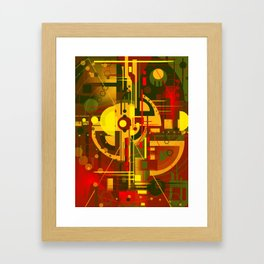 Scape of futuristic city   Framed Art Print