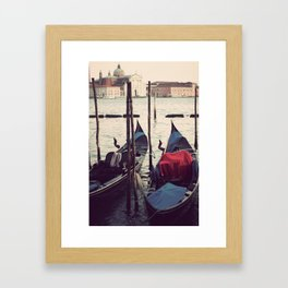 Italian Boat Dock Framed Art Print