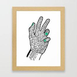 OLD BEAUTY HAND Framed Art Print