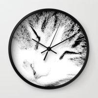 sleep Wall Clocks featuring sleep by Sugarless Daydreams