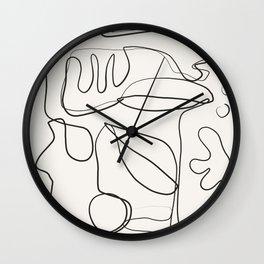 Abstract line art 10 Wall Clock