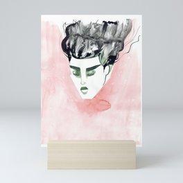 Windy Falling Head Mini Art Print