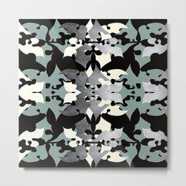 Shadow Frost- Art Deco Decoupage Metal Print