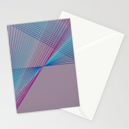 Gradient Triangles Stationery Cards