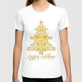 Ornate Pineapple Holiday Tree T-shirt