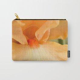 Bearded Iris Orange Harvest Carry-All Pouch