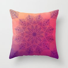 Happy Mandala Throw Pillow