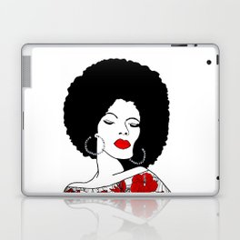 Red lips & Flowers Laptop & iPad Skin