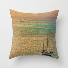 Sailing From the Sunset Throw Pillow