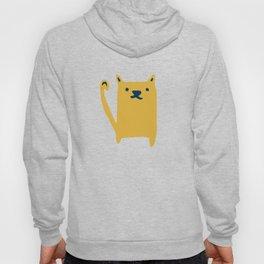 Cute Cat minimal Pattern Grey Hoody