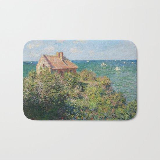 Fisherman's Cottage at Varengeville by Claude Monet Bath Mat