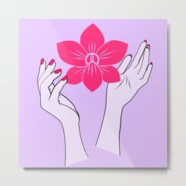 Holy orchid Metal Print