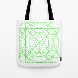 Stained Glass- Green Tote Bag