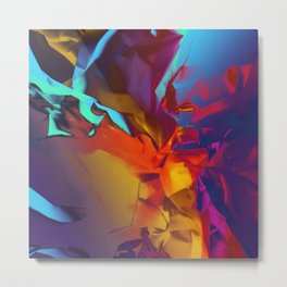 New Dream. Blue, Yellow and Red Abstract. Metal Print