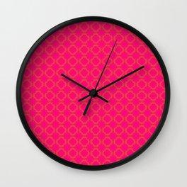 Circles of Love on Pink Wall Clock