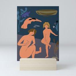 The Bathers, ver. 2 Mini Art Print