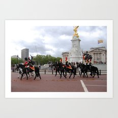 The Guards with their Horses 20 Art Print