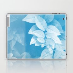 Leaves in Blue Laptop & iPad Skin