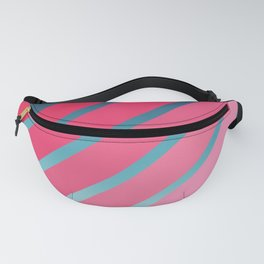 Pink Stripes on Blue Gradient Fanny Pack