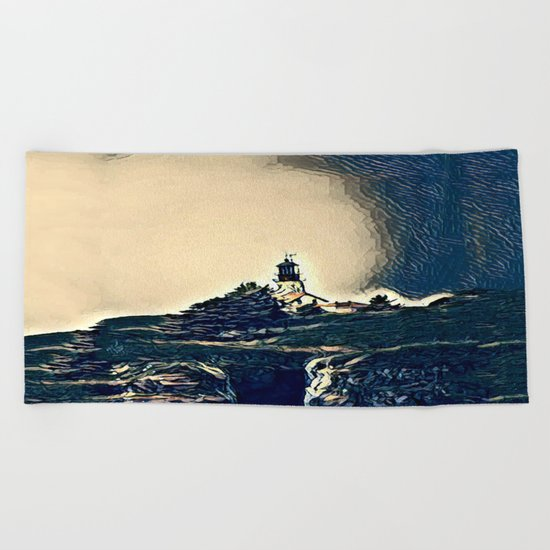A Light In The Tempest Beach Towel
