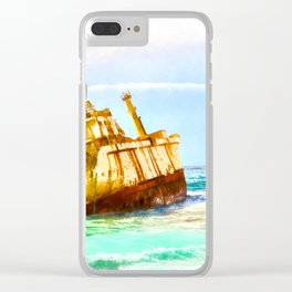 shipwreck aqrestd Clear iPhone Case