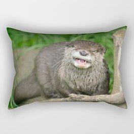 Smiling Otter Rectangular Pillow