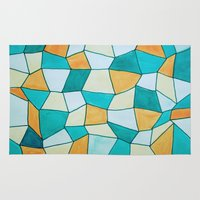 square Area & Throw Rugs featuring Square by sinonelineman