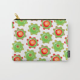 Christmas gears in red and green Carry-All Pouch